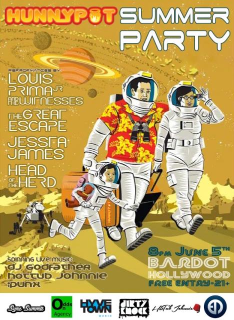 Hunnypot Summer Party Flyer 2014